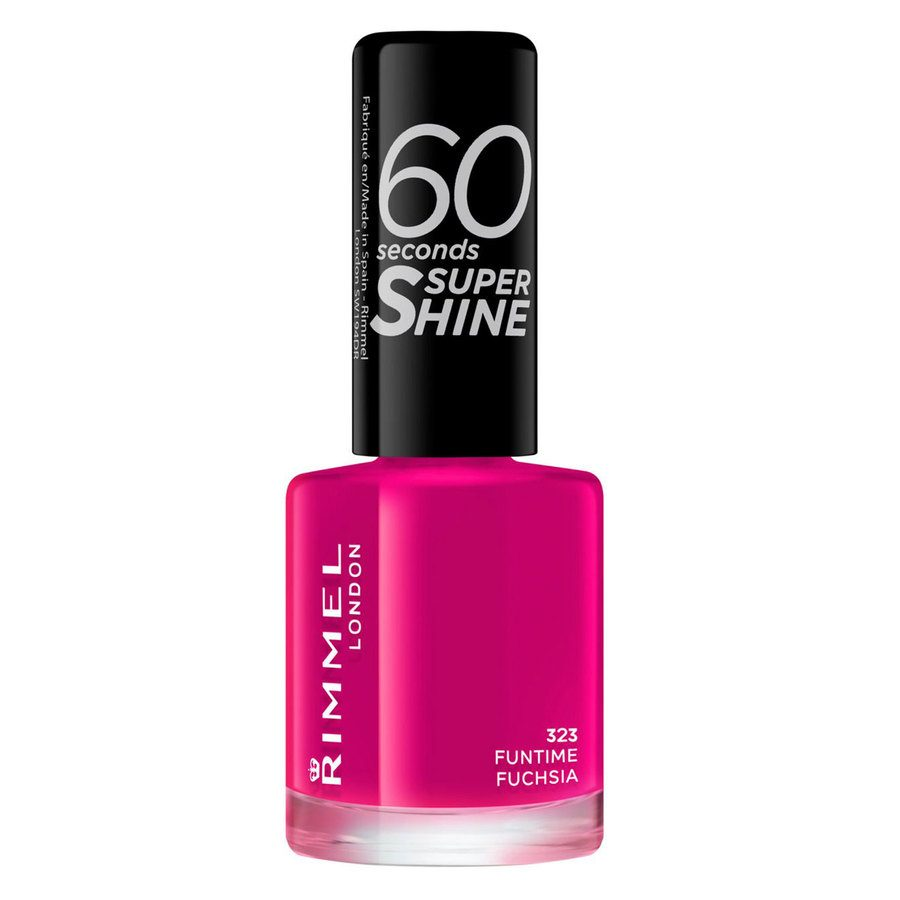 Rimmel London 60 Seconds Super Shine Nail Polish 8 ml ─ #323 Funtime Fuchsia