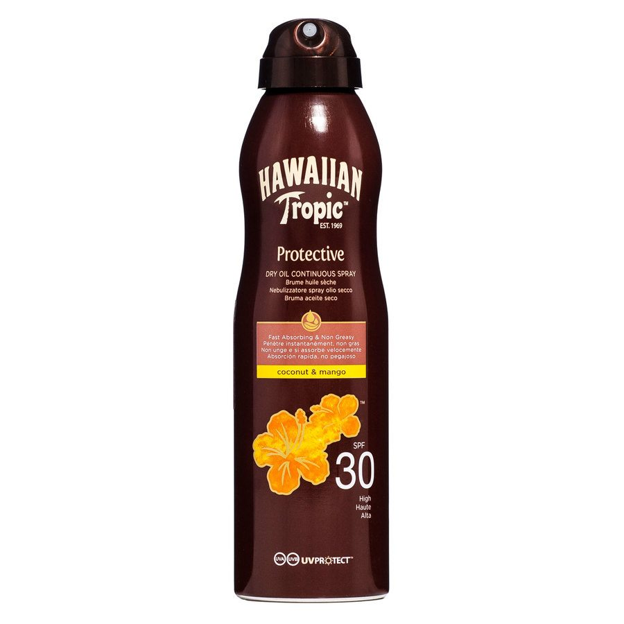 Hawaiian Tropic Protective Dry Oil Continuous Spray SPF 30 180ml