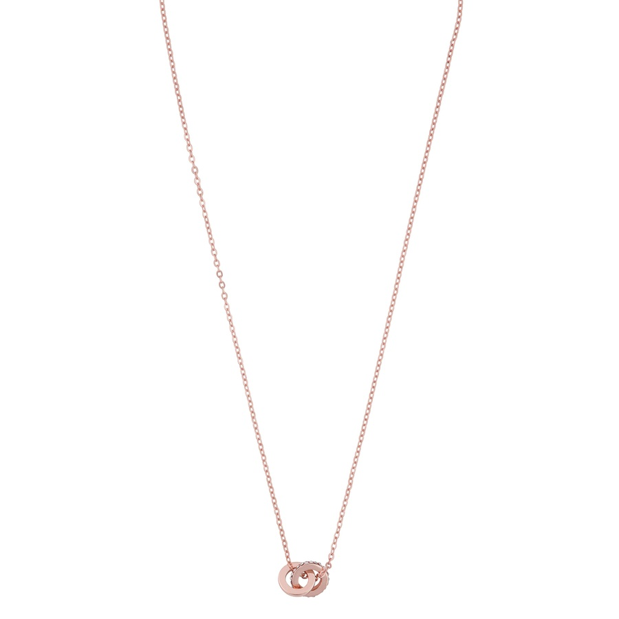Snö Of Sweden Connected Pendant Necklace 42 cm – Rosé/Clear