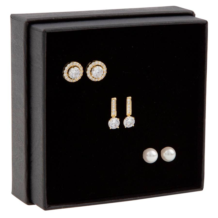 Snö of Sweden Gift Box Set Lou Earring ? Gold/Clear