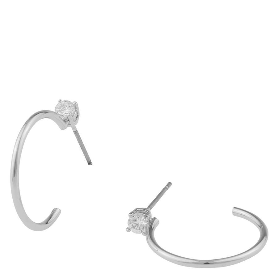 Snö Of Sweden Duo Ring Earring - Silver/Clear