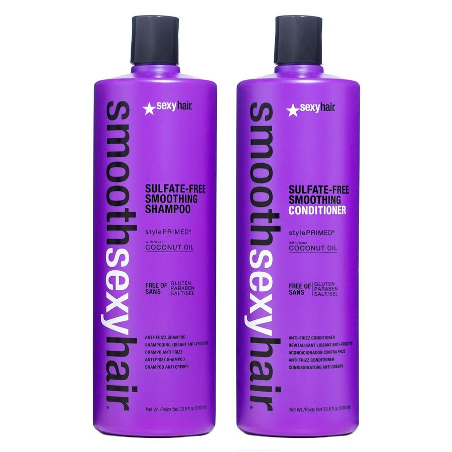 Smooth Sexy Hair Sulfate-Free Smoothing Shampoo and Conditioner 2 x 1 000 ml