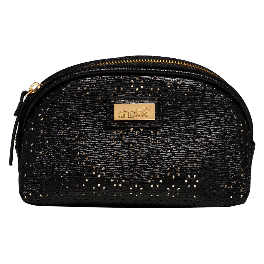Shela's Makeup Bag Small Black/Gold