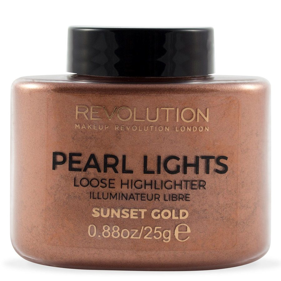 Makeup Revolution Pearl Lights Loose Highlighter 25 g – Sunset Gold