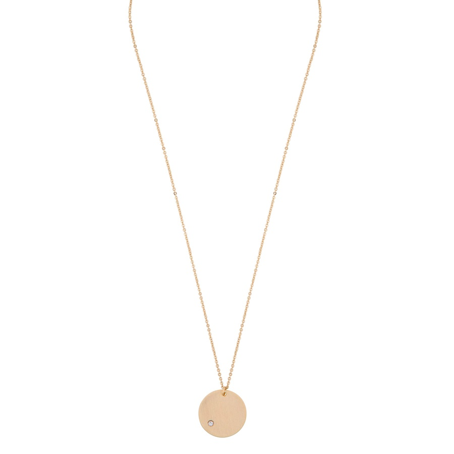 Snö Of Sweden Elin Pendant Necklace 42 cm – Gold/Clear