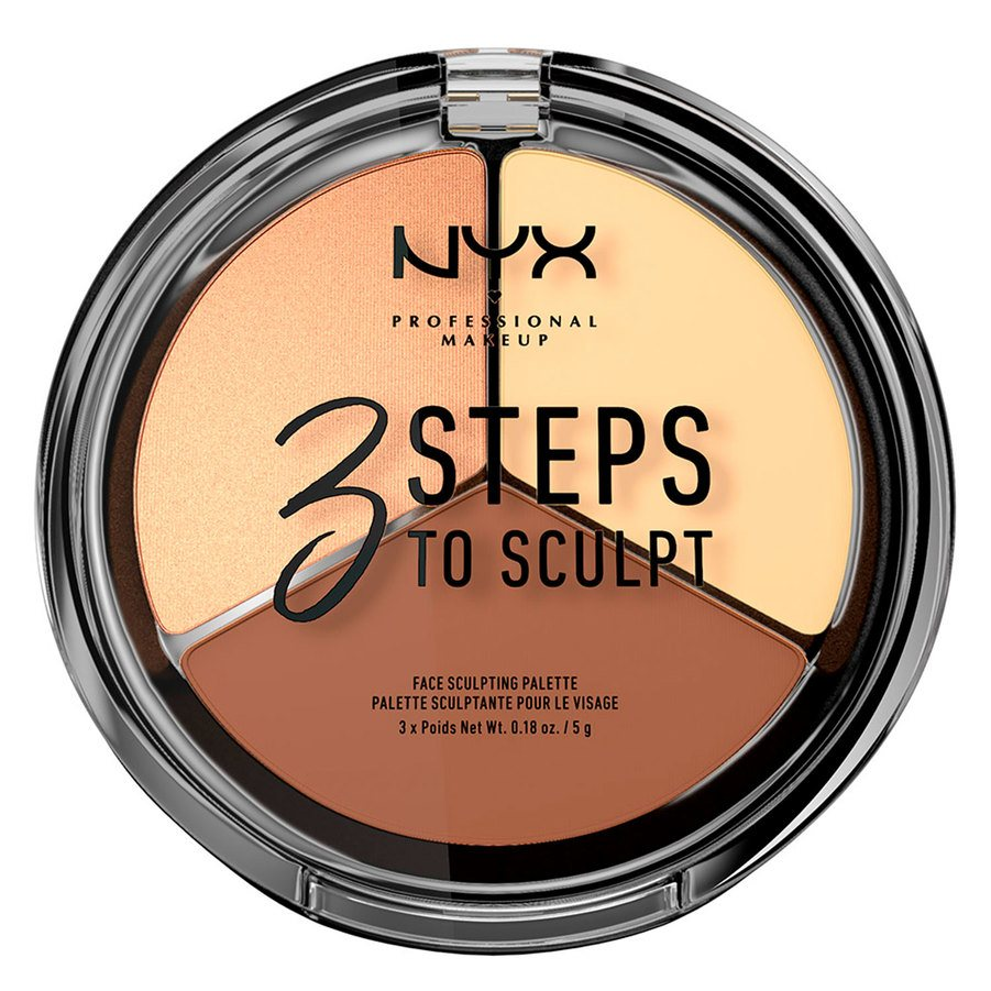 NYX Professional Makeup 3 Steps To Sculpt Face Sculpting Palette 5 g – Light