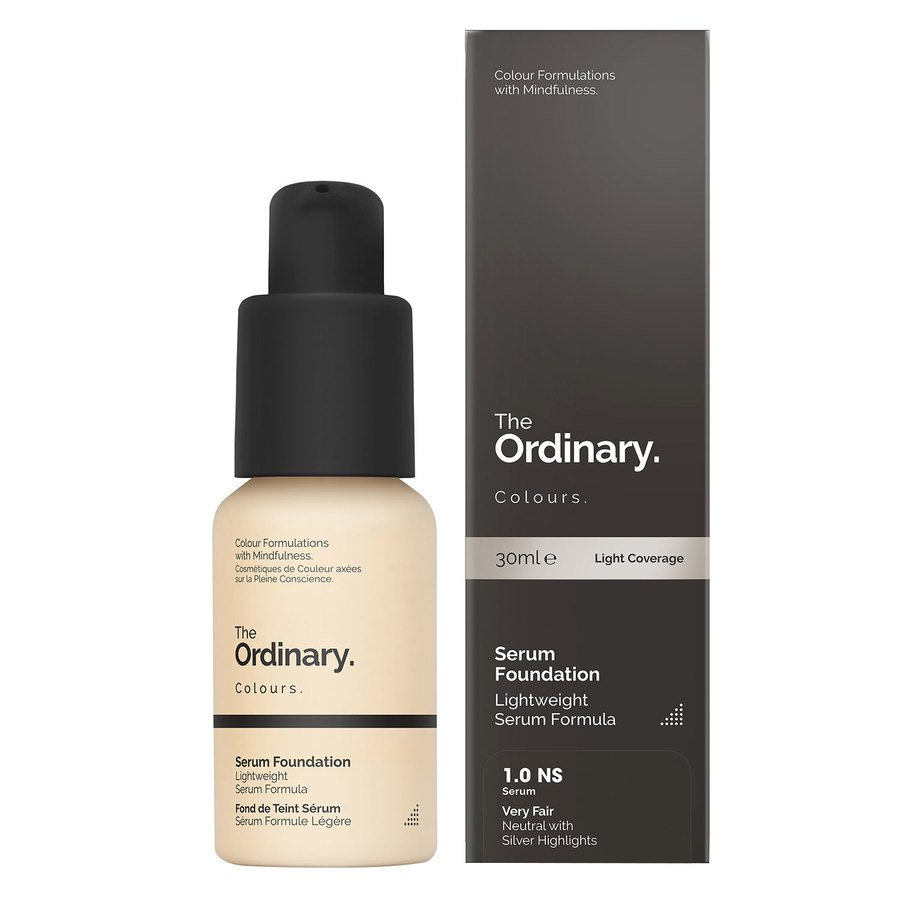 The Ordinary Serum Foundation 30 ml - 1.0 NS Very Fair Neutral Silver