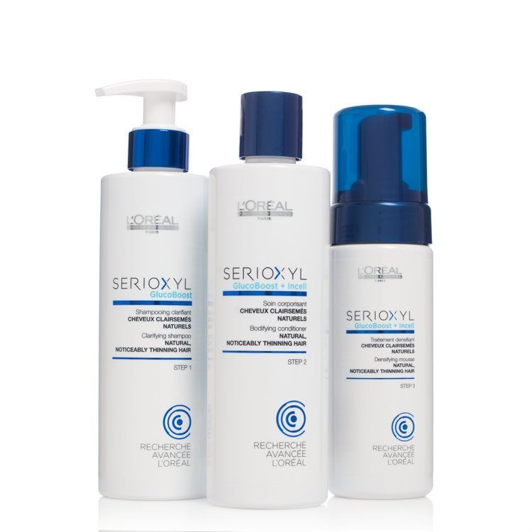 L'Oréal Professionnel Serioxyl Kit 1 Natural Thinning Hair (3 tuotetta)