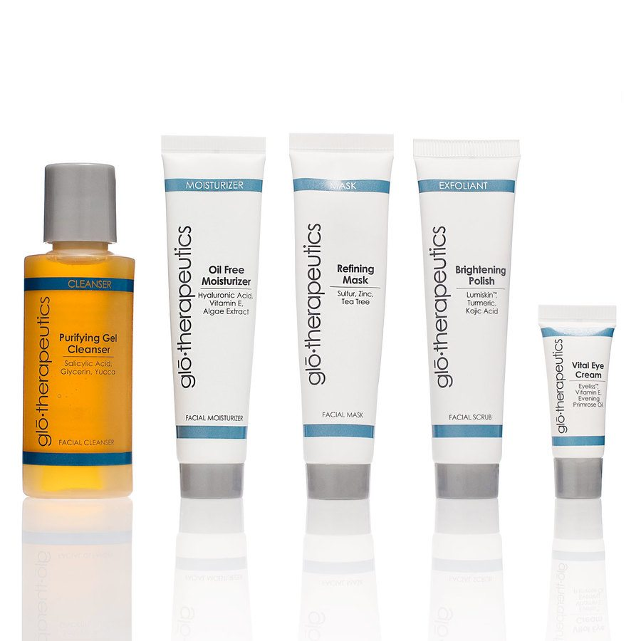 glo therapeutics Fly With Me Travel Kit Normal To Oily Skin set, 5 osaa