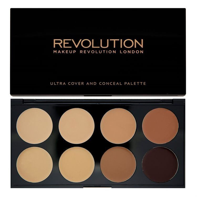 Makeup Revolution Ultra Cover and Conceal Palette 10 g Medium to Dark