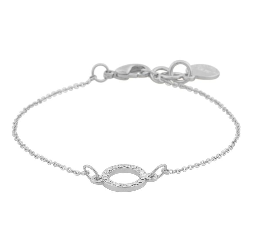 Snö Of Sweden Lily Chain Bracelet - Silver/Clear