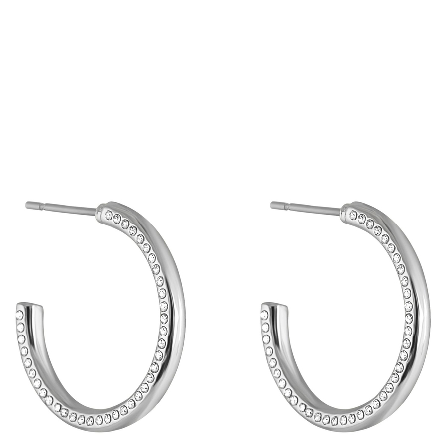 Snö Of Sweden Adara Oval Earring – Silver/Clear