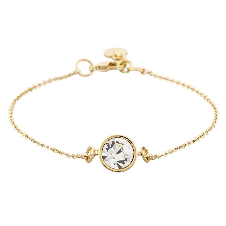 Snö of Sweden Caroline Chain Bracelet - Gold/Clear
