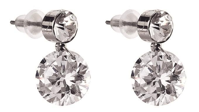 Snö Of Sweden Bellini Earring Clear 11 mm