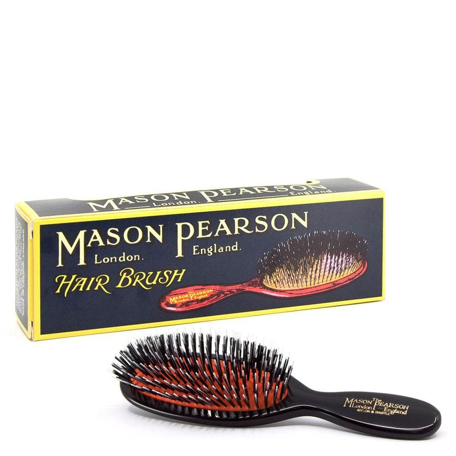 Mason Pearson Brush Bn4 Pocket - Bristle/Nylon- Dark