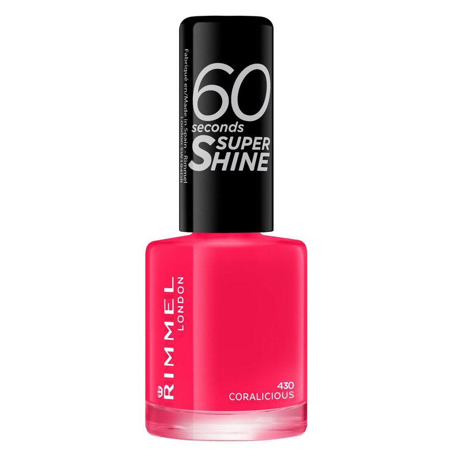 Rimmel London 60 Seconds Super Shine Nail Polish 8 ml ─ #430 Coralicious