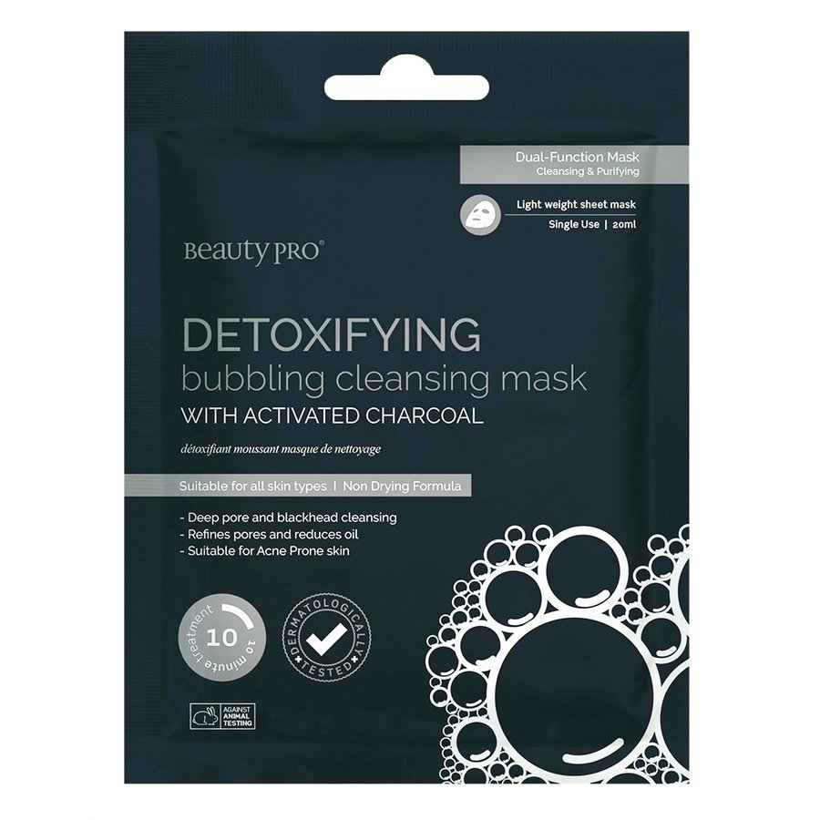 BeautyPro Detoxifying Bubbling Cleansing Mask With Activated Charcoal 18 ml
