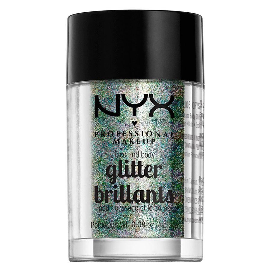 NYX Prof. Makeup Face And Body Glitter 2,5g – Crystal GLI06