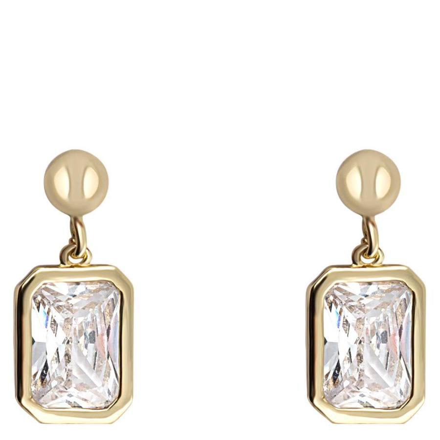 Snö Of Sweden Twice Small Earring 16 mm – Gold/Clear
