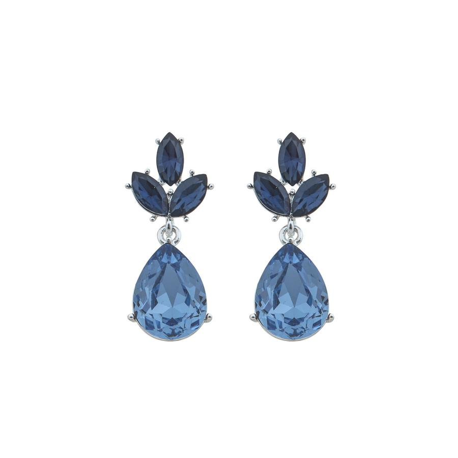 Snö Of Sweden Noemi Drop Earring - Silver/Blue Mix 1