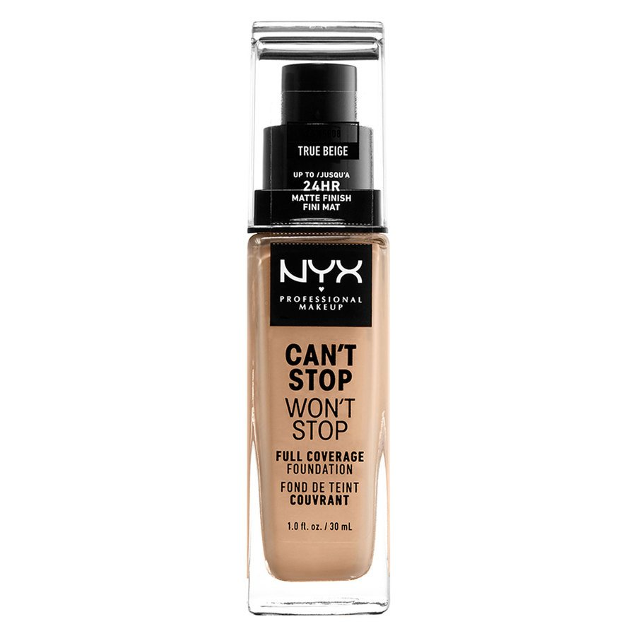 NYX Professional Makeup Can't Stop Won't Stop Full Coverage Foundation True Beige 30ml