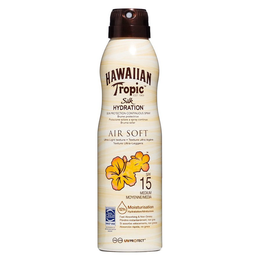 Hawaiian Tropic Air Soft Dry Oil Continuous Spray SPF 15 177ml