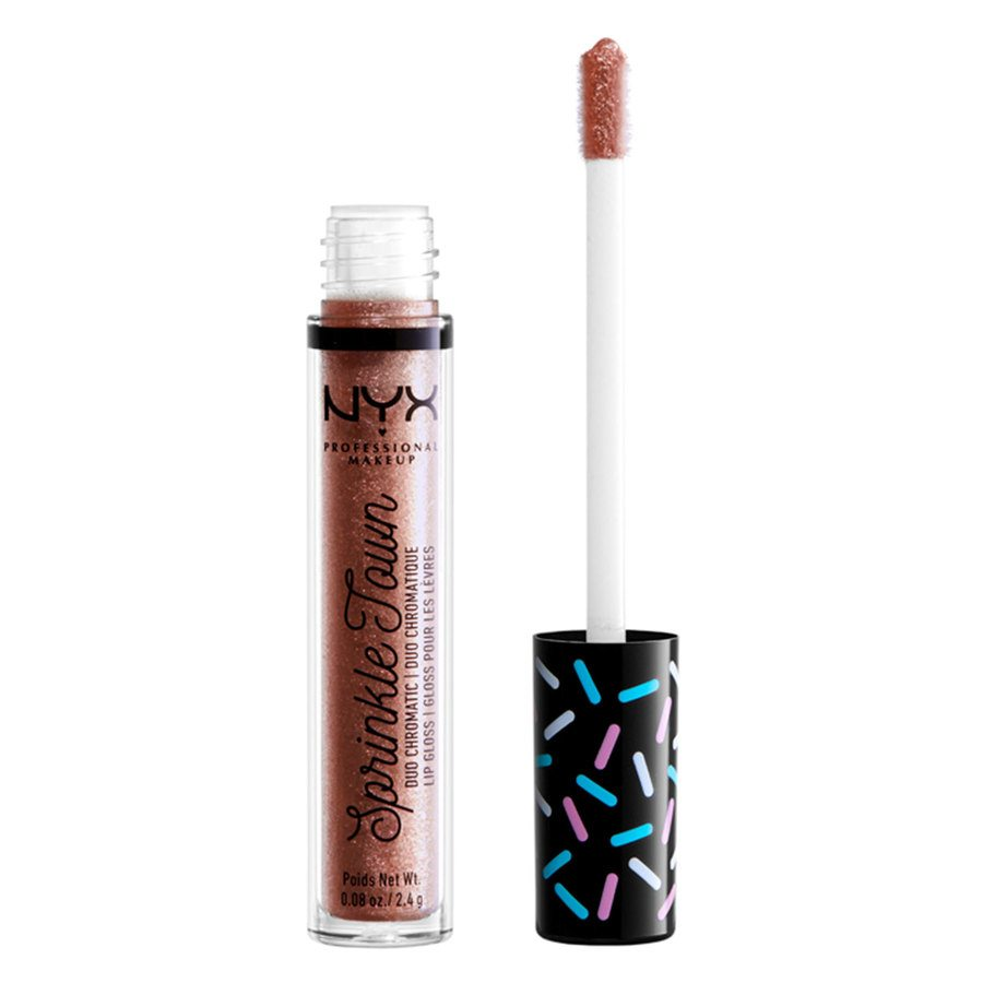 NYX Professional Makeup Sprinkle Town Duo Chromatic Lip Gloss 2,4 g - 01 Shimmer Cravings
