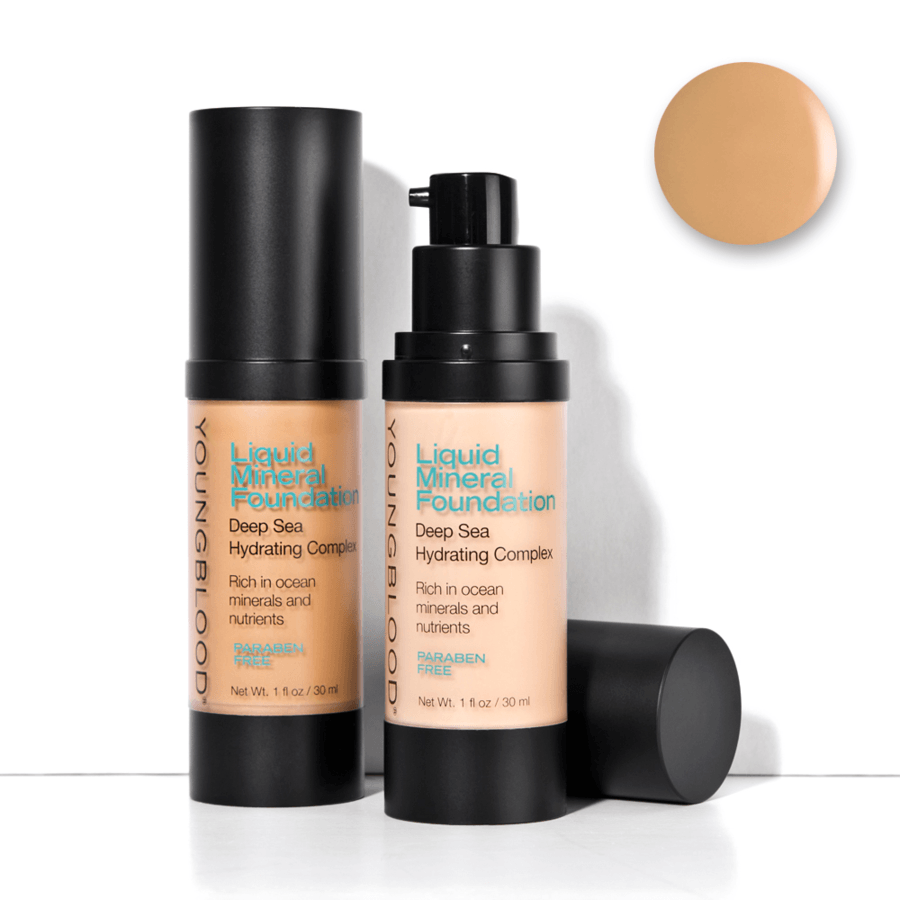 Youngblood Liquid Mineral Foundation –  Golden Tan 30 ml