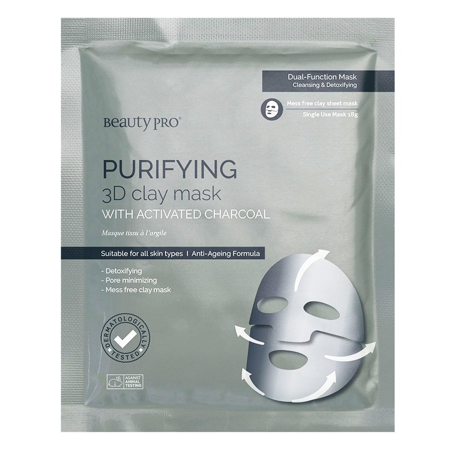 BeautyPro Purifying 3D Clay Sheet Mask 18 g