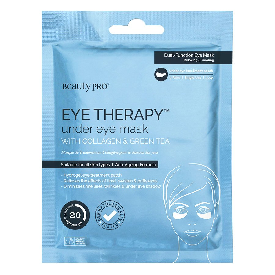 BeautyPro Eye Therapy Collagen Under Eye Mask With Green Tea Extract 3x5g Patch