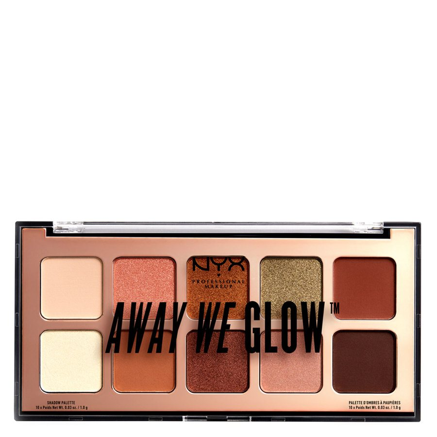 NYX Professional Makeup Away We Glow Shadow 10 x 1,0 g - Shade 02 Hooked On Glow