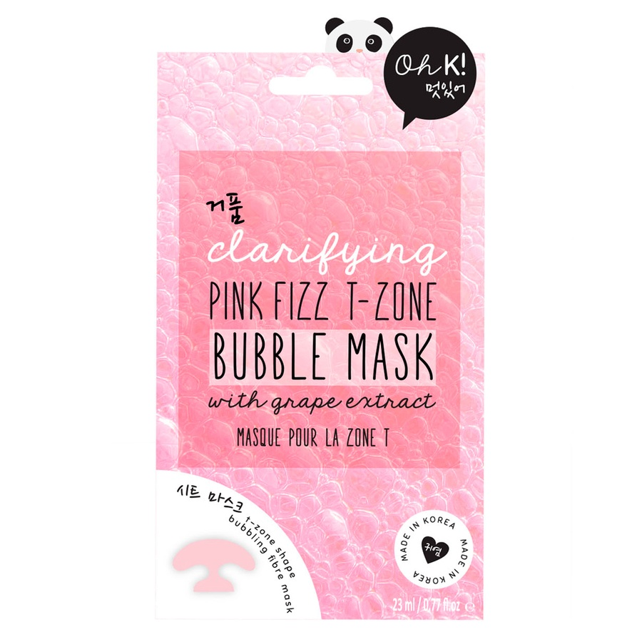 Oh K! Clarifying Pink Fizz T-Zone Bubble Mask 23 ml