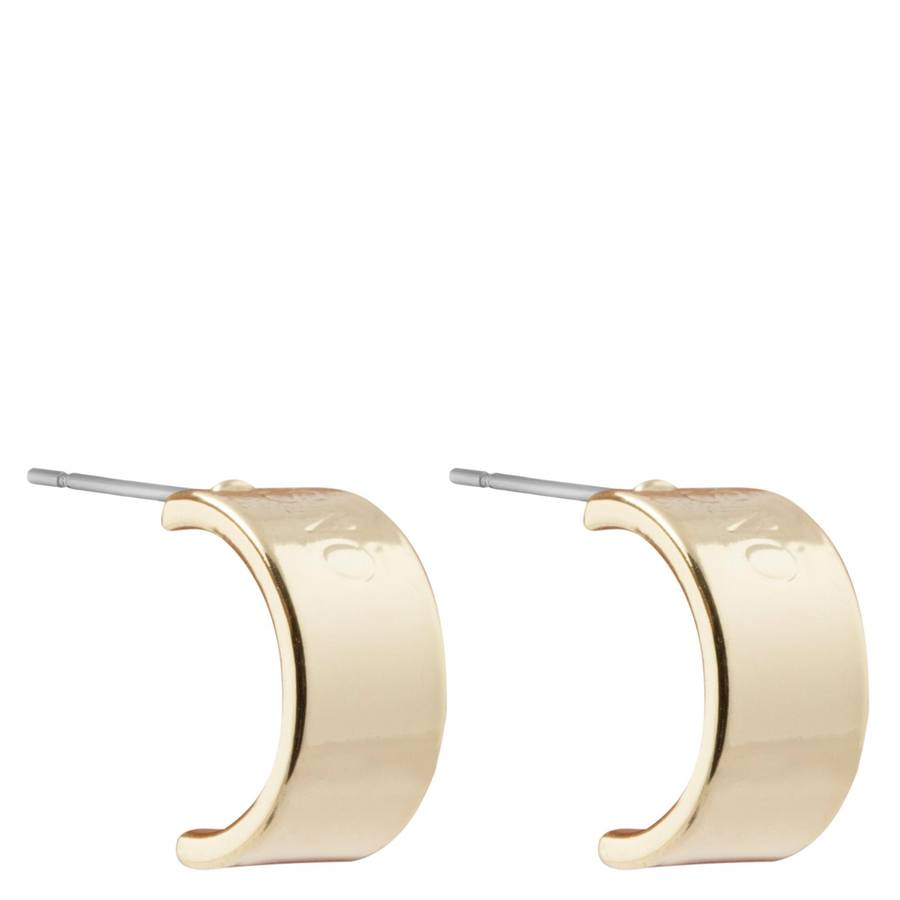 Snö Of Sweden Alea Small Oval Earring 10 mm – Plain Gold