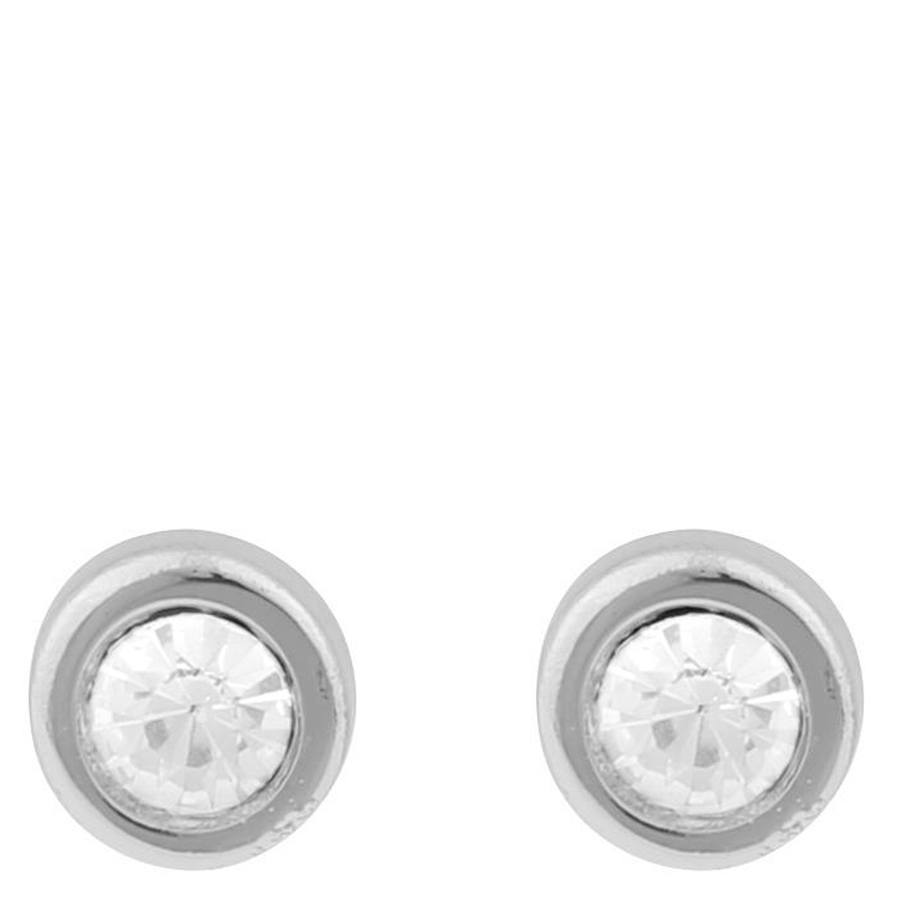 Snö Of Sweden Keira Small Stone Earring – Silver/Clear