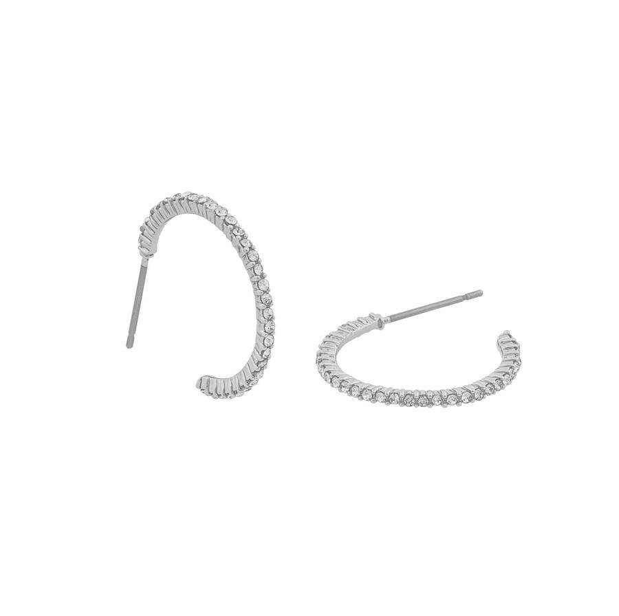 Snö Of Sweden Lily Oval Earring - Silver/Clear