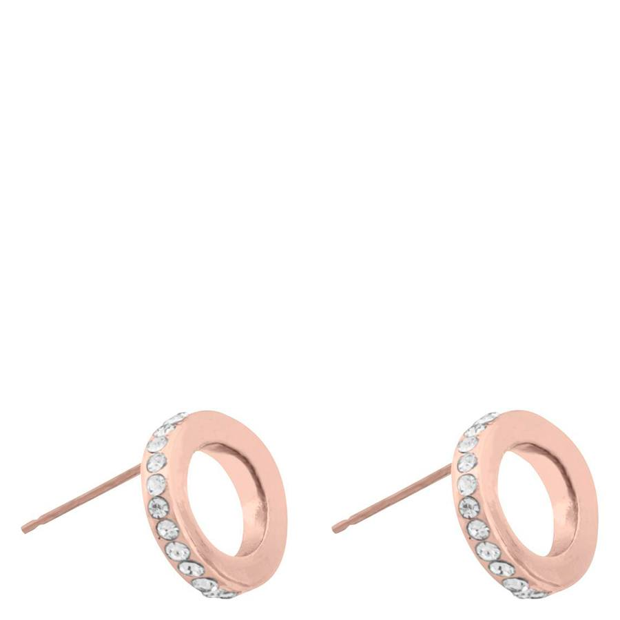 Snö Of Sweden Connected Earring – Rosé/Clear