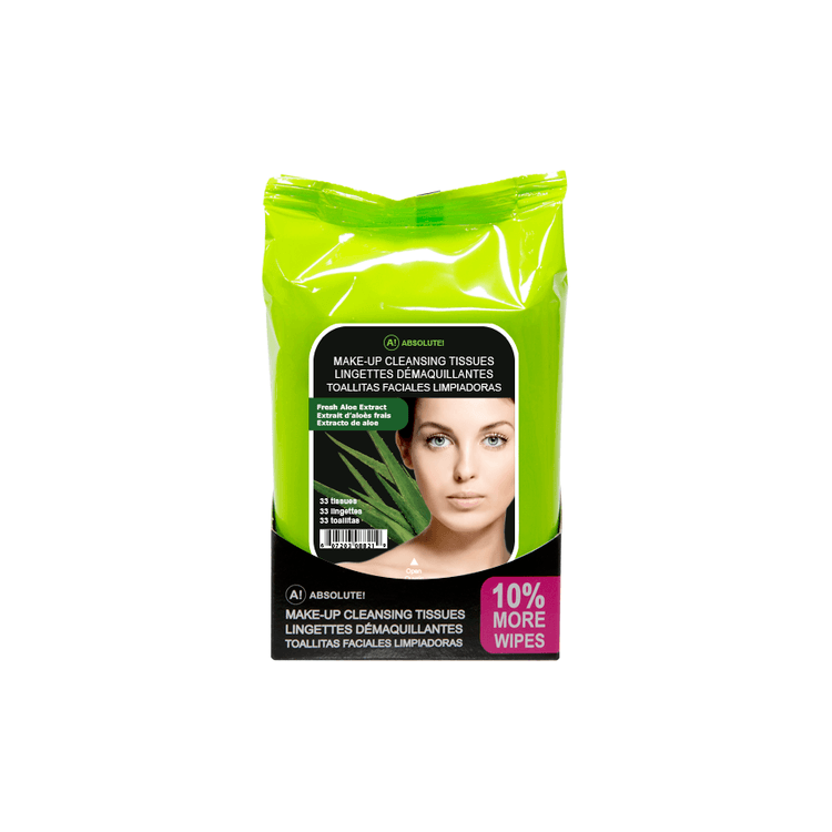 Absolute New York Make-Up Cleansing Tissues Fresh Aloe Extract 33 kpl