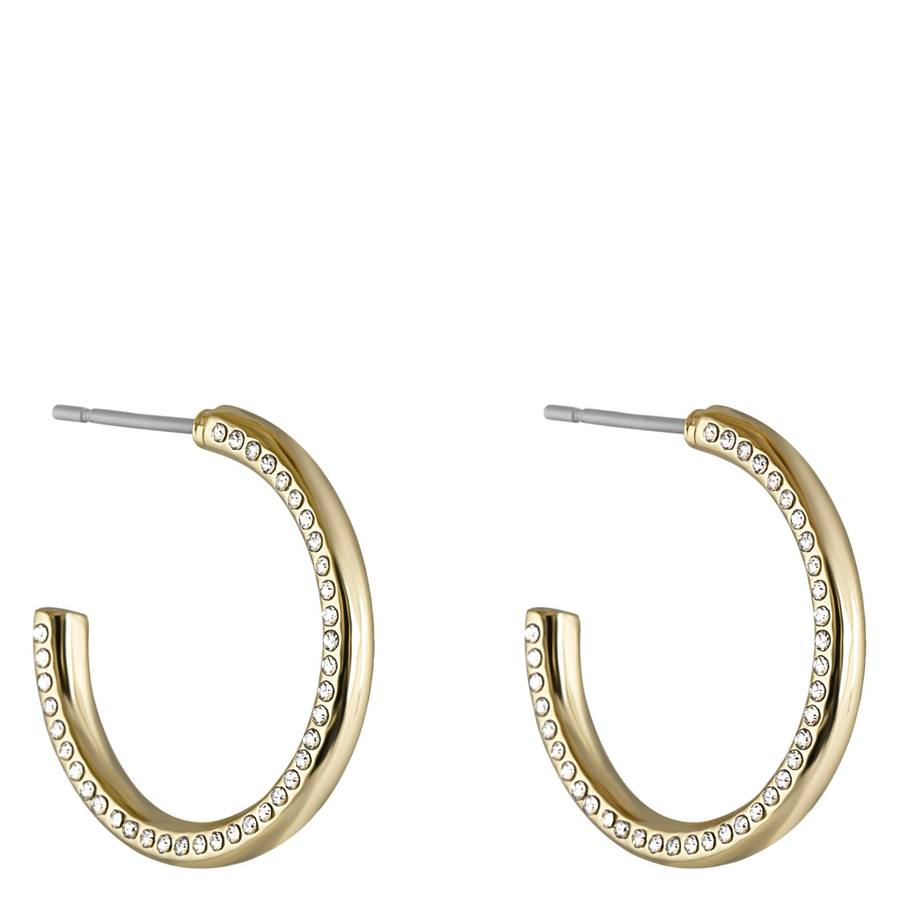 Snö Of Sweden Adara Oval Earring – Gold/Clear