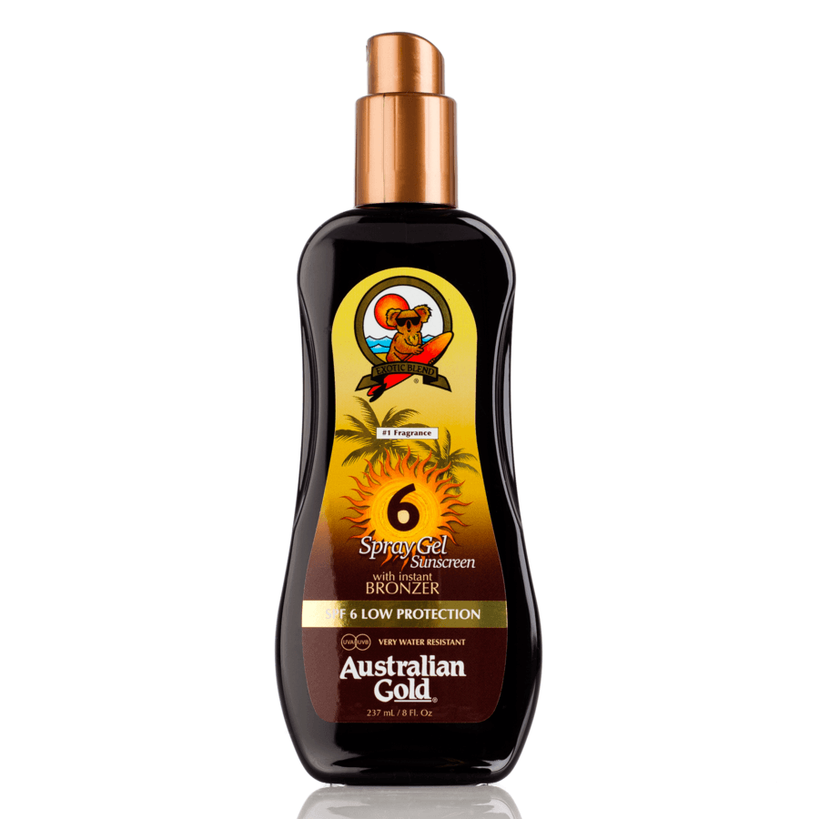 Australian Gold SPF 6 Spray Gel with Instant Bronzer 237 ml