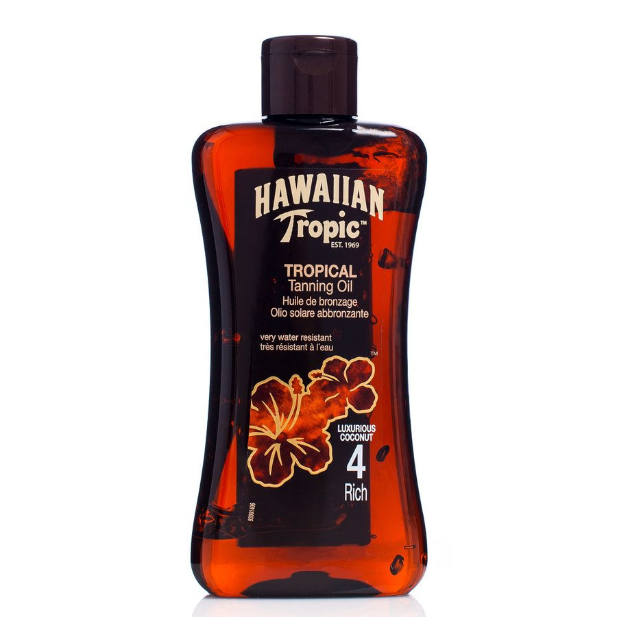 Hawaiian Tropic Tan Oil Rich SPF 4 200 ml
