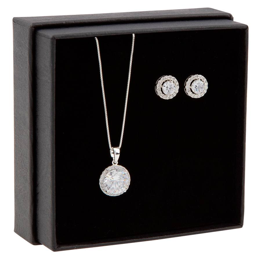 Snö of Sweden Gift Box Lex Necklace Silver/Clear