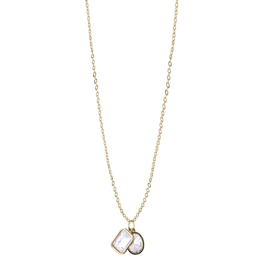 Snö Of Sweden Twice Pendant Necklace – Gold/Clear