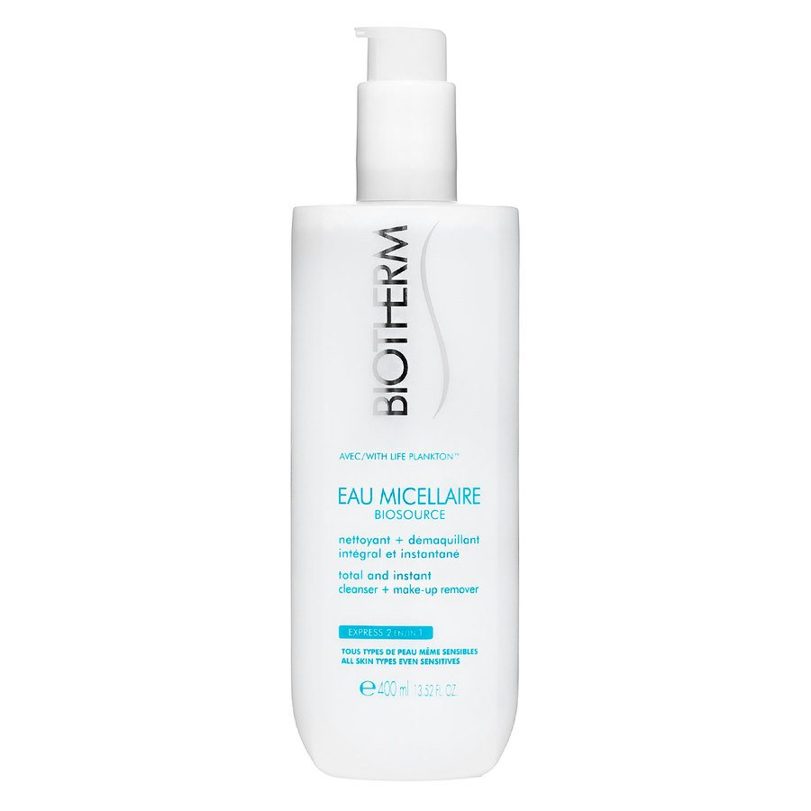 Biotherm Biosource Eau Micellaire Cleanser + Make-Up Remover 400 ml