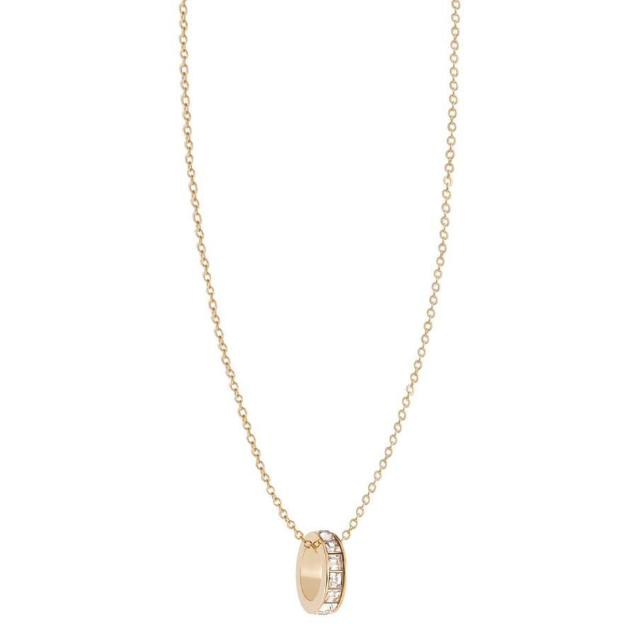 Snö of Sweden Trio Ring Pendant Necklace – Gold/Clear