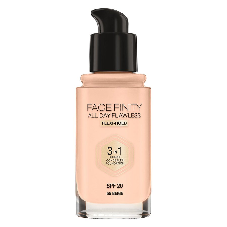Max Factor Facefinity All Day Flawless 3-in-1 Foundation 30 ml – 55 Beige