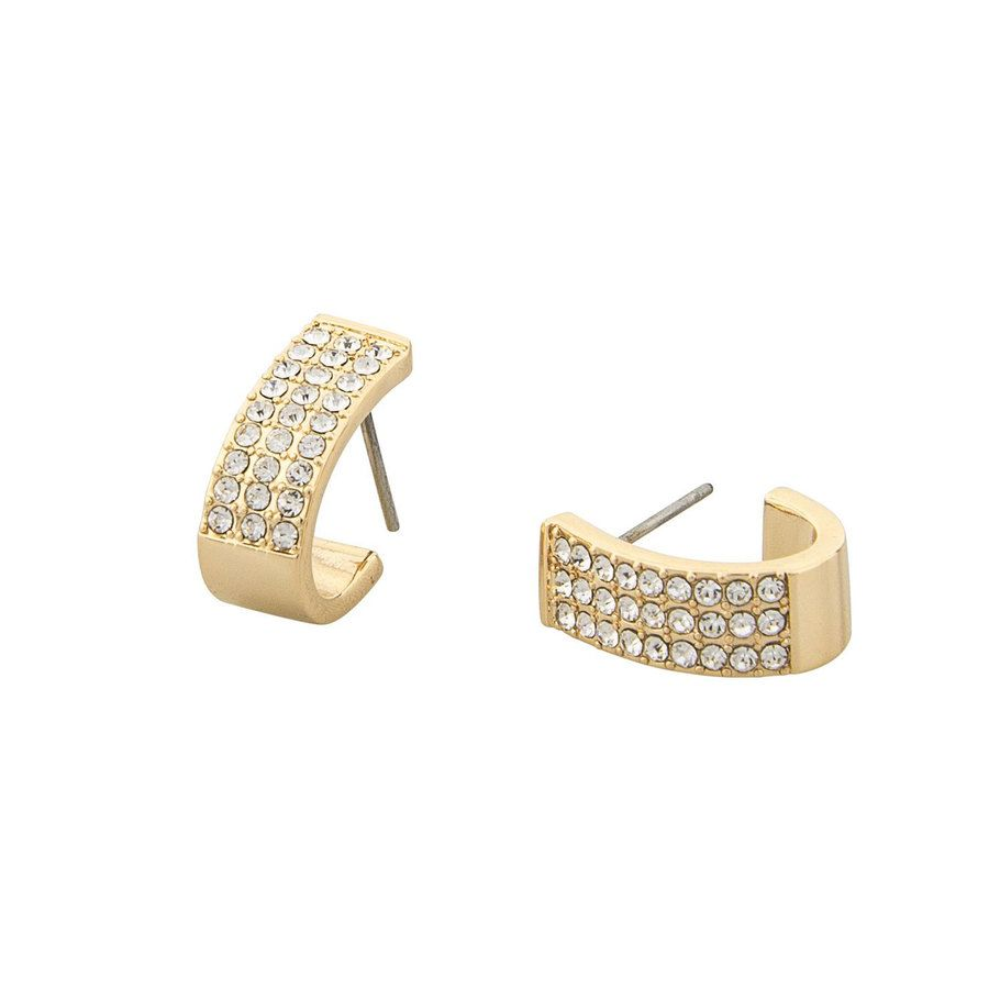 Snö of Sweden Corinne Small Wide Oval Earring – Gold/Clear