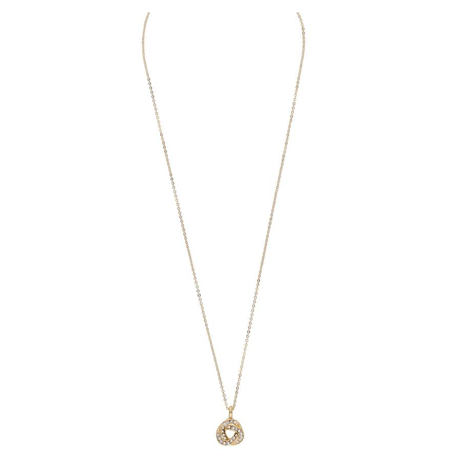 Snö Of Sweden Leonie Pendant Necklace 42 cm - Gold/Clear