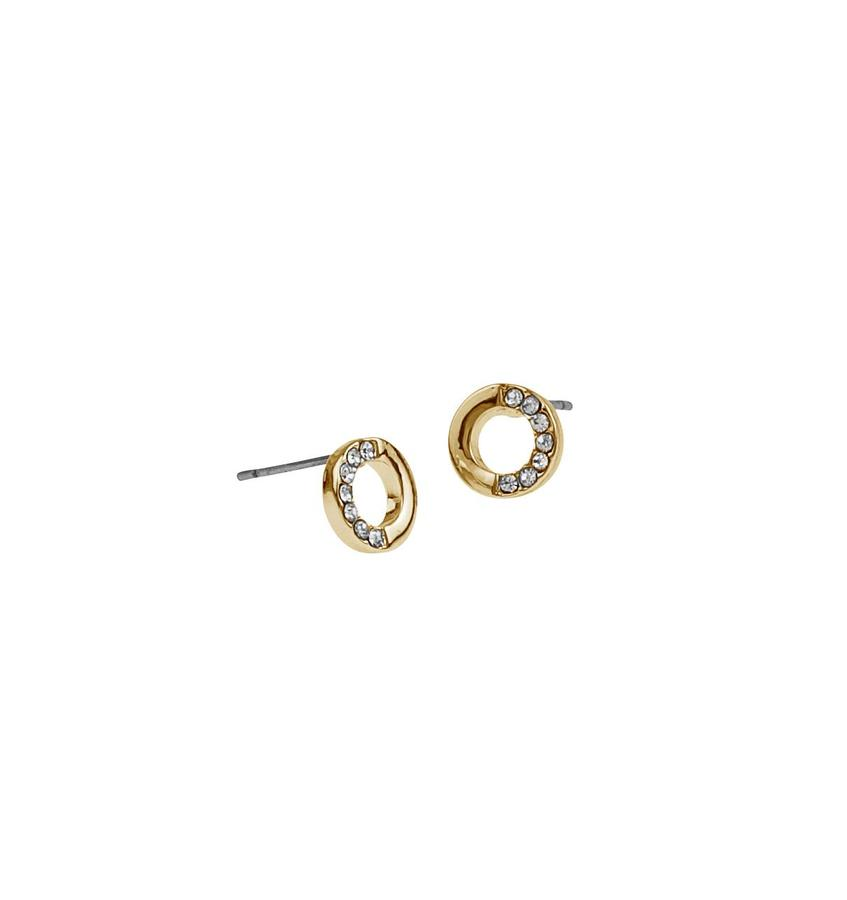 Snö Of Sweden Colline Small Earring - Gold/Clear