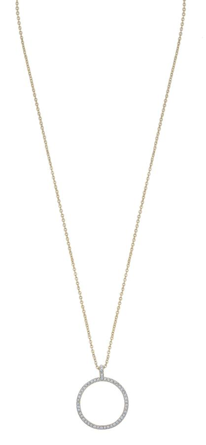 Snö Of Sweden Lily Pendant Necklace - Gold/Clear