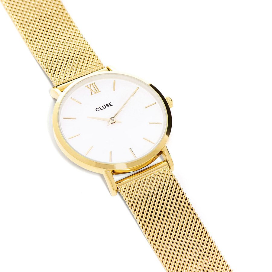 CLUSE Minuit Mesh Gold / White CL30010
